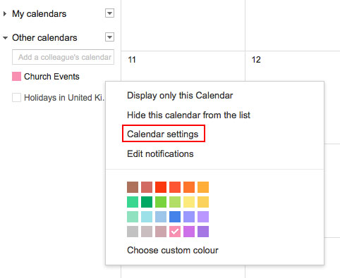 how to add outlook calendar to ical